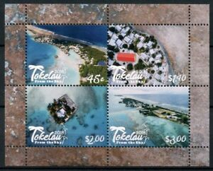 Tokelau 2018 MNH Tokelau from Sky 4v M/S Tourism Landscapes Beaches Trees Stamps