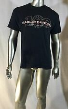 Harley Davidson T Shirt 100 years of motorcycles Milwaukee USA Size XL Col Black