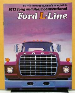 1972 Ford L Line Long & Short Conventional LTS L LN LT LNT Series Sales Brochure