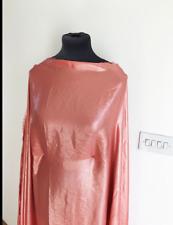 Tropical Coral Pearlised Metallic Foil Chiffon Crepe Dressmaking Fabric 1.3mts