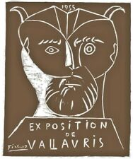 Pablo Picasso Lithographie Signiert Exposition 1955 VALLAVRIS