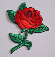 RED ROSE Embroidered Iron on Patch + Free Shipping A022