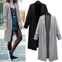 Autumn Women Ladies Long Sleeve Long Cardigan Coat Jacket Outwear Blouse Tops UK