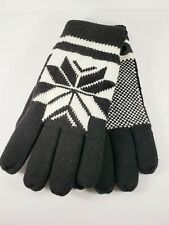 TruFit Winter Gloves Black & White Fleece Lined One Size