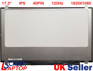 "For B173HAN01.1 H/W:1A F/W:1 40-PINS eDP Laptop Screen 17.3"" LED 1080P 120Hz"