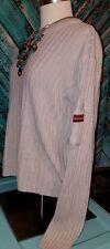 Vintage 90's Beige Sweater Long Sleeve Arm Pocket Women's Size XL Fits Like 8-11