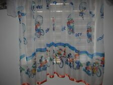 NEW Disney Mickey Mouse net curtain voile Minnie orange trimming D 150cm W 150cm