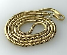 "Snake Elegant Chain Necklace in 18k Yellow Gold 18""inch"