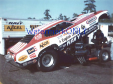 """Tom """"Mongoose"""" McEwen 1974 """"NAVY"""" Plymouth Duster Funny Car at NYN PHOTO!"""