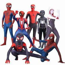 Kid/Adult Spider Man Jumpsuit Gwen Miles Venom Halloween Cosplay Costume Tights
