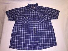 Rare Vintage 80s Big Mac Plaid Button Up Short Sleeve Shirt Xl Hipster Soft Thin