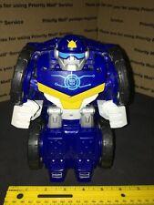 "TRANSFORMERS Rescue Bots FLIP RACER - BIG POLICE-BOT - PLAYSKOOL Heroes 7"" Tall"