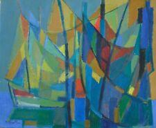 Jean CHEVOLLEAU (1924-1996), peintre post cubiste, les filets