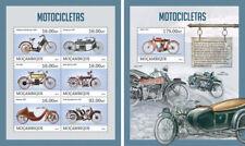 Motorcycles Motorräder Motos Motor Vehicles Transport Mozambique MNH stamp set