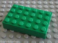 Plaque epaisse green Brick 4 x 6 ref 2356 LEGO / Set 4406 7795 4165 6095 ...