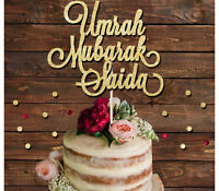 UMRAH MUBARAK CUSTOM NAME GLITTER CAKE TOPPER, ISLAMIC CAKE DECORATION