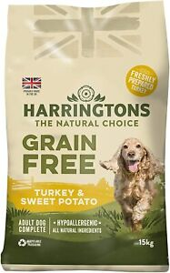 Harringtons Dry Dog Food Grain Free Hypoallergenic Turkey and Sweet Potato 15 kg