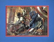 Civil War CAPTAIN AMERICA v BLACK PANTER PRINT PRO MATTED