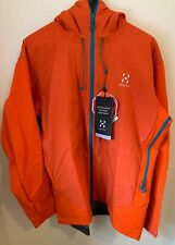 NWTs Haglofs Men's Roca II Hybrid Soft Shell Hooded Jacket. XL. Dynamite ($420)