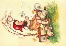 Picture Postcard::Kruger, Hilde, Girl Blowing Dandelion Clock