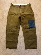 Vintage Keystone Canvas Hunting Pants Trousers Khaki Chino Workwear 50's 36x27