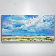 VV#162 Large Hand-painted Room Wall Decoration Scenery oil painting SEA No Frame