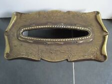 AMEROCK Carriage House Metal Tissue Kleenex Box Cover Brass VINTAGE