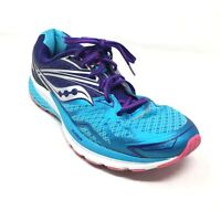 Women's Saucony Ride 9 Running Shoes Sneakers Size 9.5 Blue Purple Athletic U15