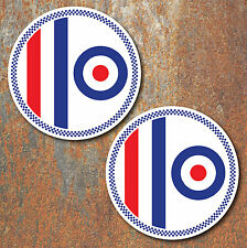 MOD Laminated Stickers x2 80mm scooter Vespa RAF The Who decals