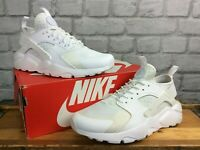 NIKE MENS AIR HUARACHE ULTRA TRIPLE WHITE TRAINERS VARIOUS SIZES RRP £100
