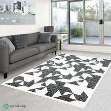 Tapis noir avec des motifs Géométrique modernes pour la maison