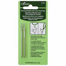 Clover 3160 Darning Needles With Latch Hook Eye 2-piece.