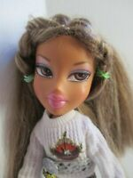 Bratz doll long dark blonde 2 tone hair glitter jeans sweater - high heels shoes