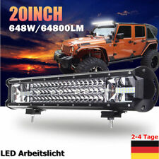 20'' 648W Rampe Led balken Offroad Lichter Scheinwerfer SUV LKW Roof Light Bar T