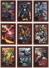 2014 Marvel Universe series 2 THOR GREATEST BATTLES Set (9 cards) Red Parallel