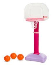 Little Tikes Kids Adjustable Easy Score Totsports 3 Balls Basketball Hoop (Pink)