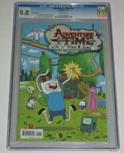 CGC 9.8 Kaboom ADVENTURE TIME With FINN & JAKE #1 White Pages Cover C