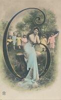 Number 6 – Hand Colored Postcard - udb (pre 1908)