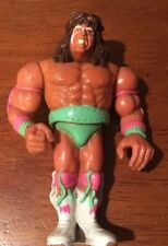 ULTIMATE WARRIOR TITAN SPORTS WWF ACTION FIGURE 1990 Green Pink