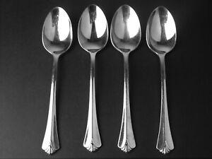 Set 4 Teaspoons Oneida Stainless USA Westgate Royal Crest
