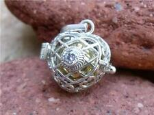 BALINESE HARMONY/CHIME BALL/ANGEL CALLER CLEAR CZ 925 SILVER PENDANT