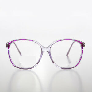 Purple Round Bifocal Reading Glasses 3.50 diopter - Sarah