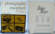 LEICA PHOTOGRAPHIC EQUIPMENT CATALOG No. 45 - 1972 - M4, M5, MDa, Leicaflex