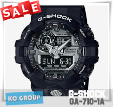 G-SHOCK BRAND NEW WITH TAG GA-710-1A BLACK COLOR Analog-Digital WATCH