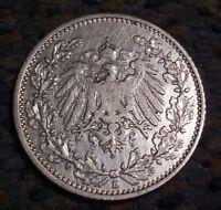Germany, Empire 1/2 Mark, 1905 D