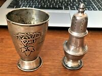 2.5 OZ LOT Kiddush Cup JEWISH SILVER 800+ SHAKER STERLING 925 NOT SCRAP ANTIQUE