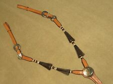 Nwot Flashy High Quality Western Breast Collar with Rawhide, Horse Hair & Silver