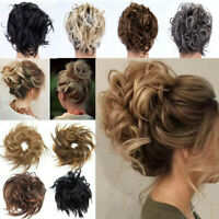 Real Human LARGE Thick Messy Bun Hair Piece Scrunchie Hair Extension Updo Cover