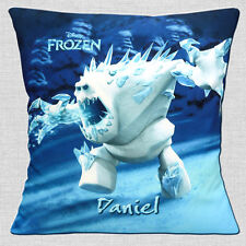 """PERSONALISED FROZEN Disney Film Marshmallow ADD NAME 16"""" Pillow Cushion Cover"""