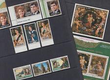 Cook Islands 1986 Used FU Full Set Minisheet Christmas Queen Elizabeth Pope